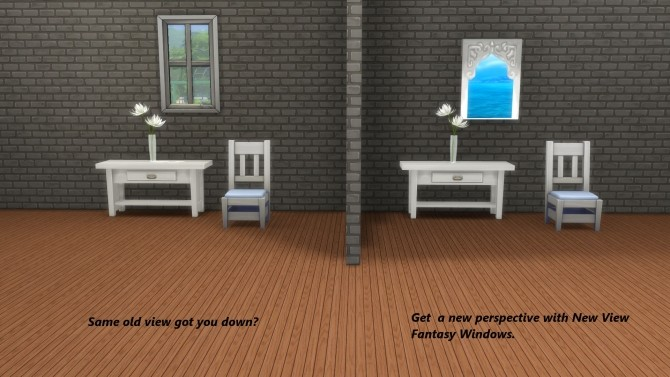 Sims 4 New View Fantasy Windows by Snowhaze at Mod The Sims