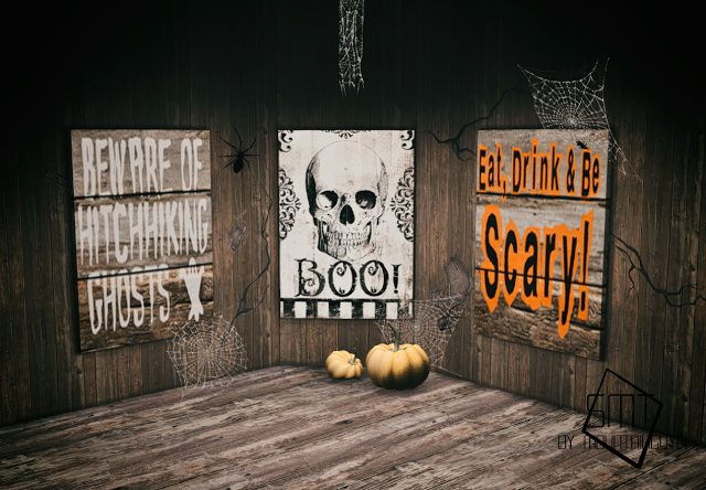 Halloween Wooden Paintings By MountainGuy24 at Sims Modern Technology image 9413 Sims 4 Updates