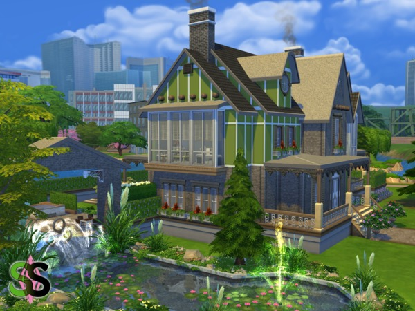 Green Leaves house by SIMSnippets at TSR image 943 Sims 4 Updates