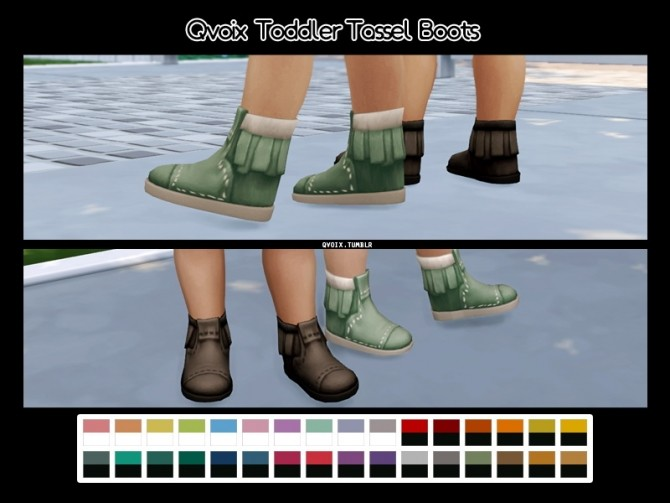 Sims 4 Tassel Boots at qvoix – escaping reality