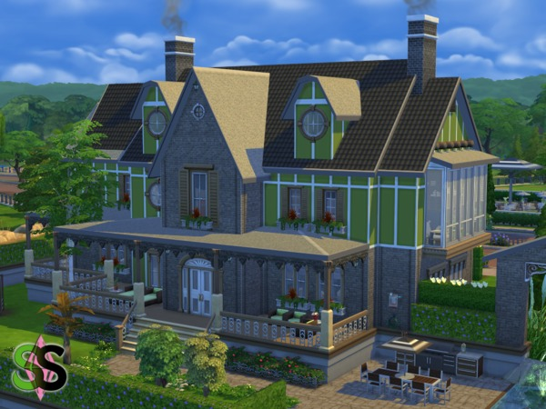 Green Leaves house by SIMSnippets at TSR image 954 Sims 4 Updates