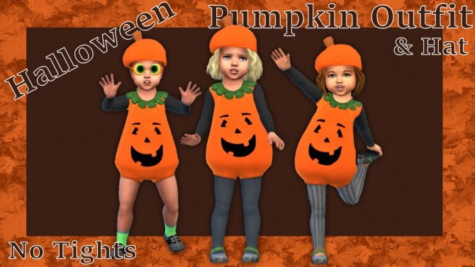 Toddlers Pumpkin Outfit & Hat at Seger Sims image 955 670x377 Sims 4 Updates
