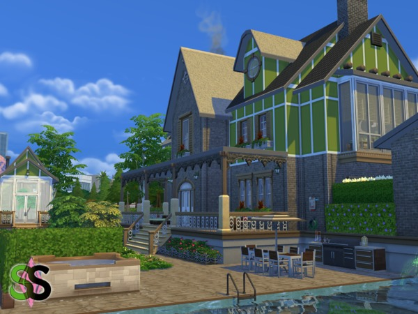 Green Leaves house by SIMSnippets at TSR image 964 Sims 4 Updates