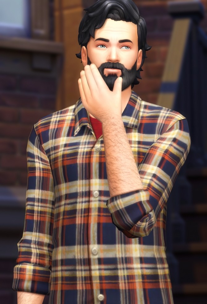 Buttoned Flannels & Undershirts at Marvin Sims image 9711 670x984 Sims 4 Updates