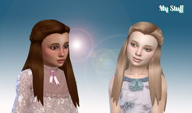Sims 4 Małgorzata Hair for Girls at My Stuff