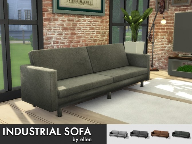 Sims 4 Industrial sofa at Simobjects by Ellen