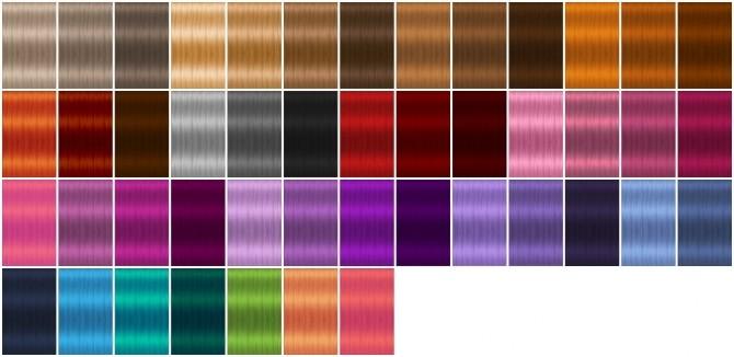 Sims 4 Sunshine hair recolors by heartfall at SimsWorkshop