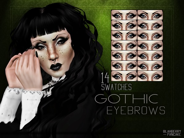 Gothic Eyebrows by Blahberry Pancake at TSR image 984 Sims 4 Updates