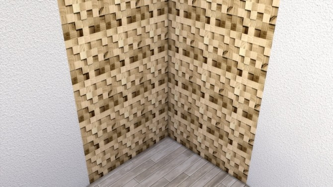 Blocks of Wood wall by LaLunaRossa at About Sims image 10016 670x377 Sims 4 Updates