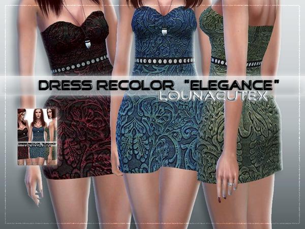 Sims 4 Dress Recolor by L0UNA at TSR