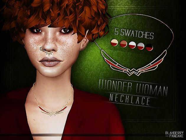 Sims 4 Wonder women necklace at Blahberry Pancake