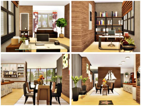 Egon modern home No CC by Danuta720 at TSR image 1014 Sims 4 Updates