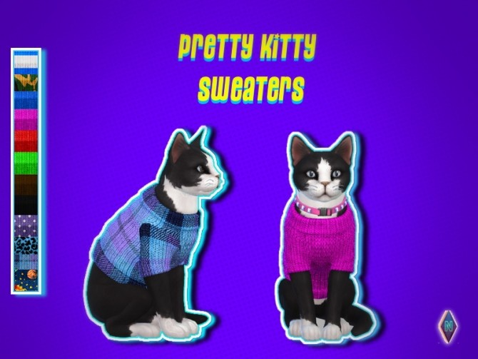 Sims 4 Pretty Kitty Sweaters at NiteSkky Sims