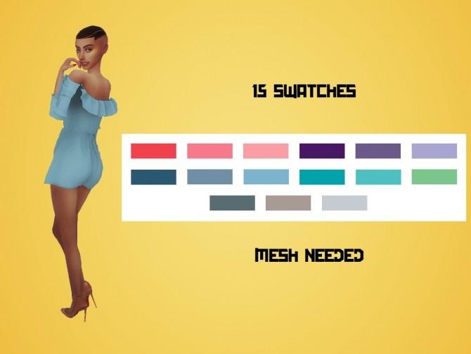 Magnolia C's Ruffle Bell Sleeve Playsuit RECOLOR at Meraki – simblrdearie image 1022 670x503 Sims 4 Updates