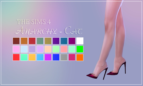 madlen amatrice shoes at anarchy cat 187 sims 4 updates