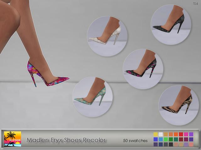 Sims 4 Madlen Eryx Shoes Recolor at Elfdor Sims