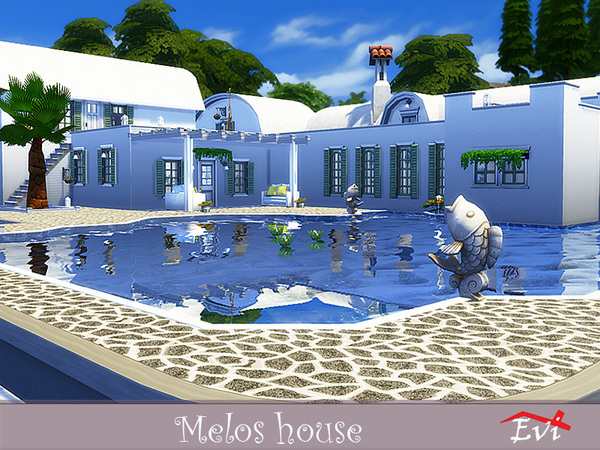 Melos House by evi at TSR image 1039 Sims 4 Updates