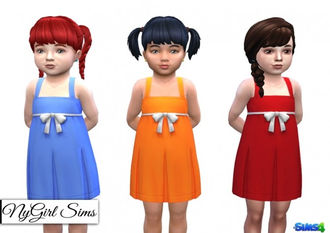 Sims 4 Pleated Tank Dress with Bow at NyGirl Sims