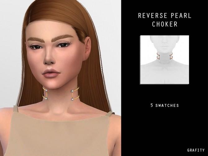 REVERSE PEARL CHOKER at Arthurlumierecc – AL image 1046 670x503 Sims 4 Updates