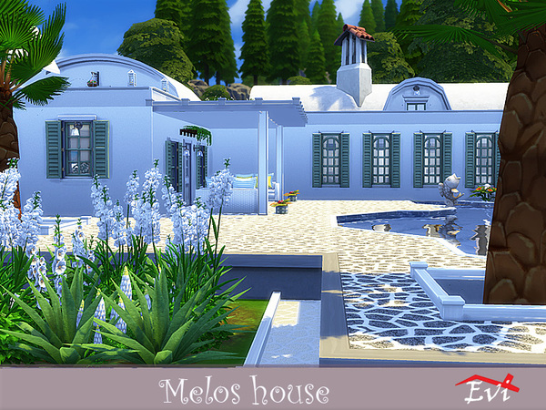 Melos House by evi at TSR image 1049 Sims 4 Updates