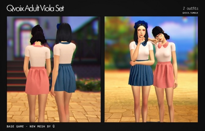 Viola Set at qvoix – escaping reality image 10514 670x429 Sims 4 Updates