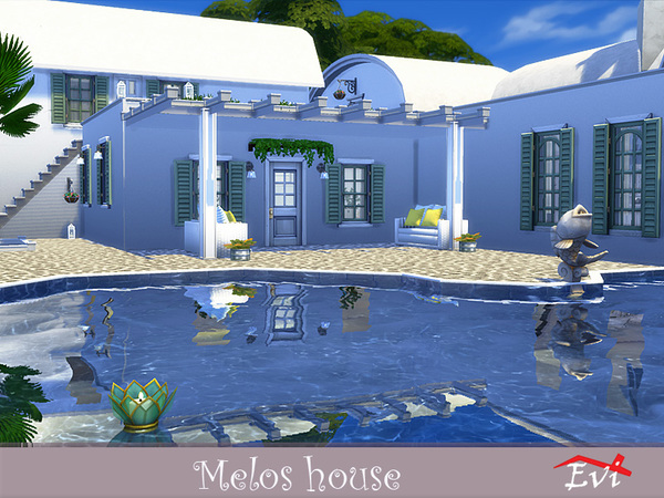 Melos House by evi at TSR image 1069 Sims 4 Updates