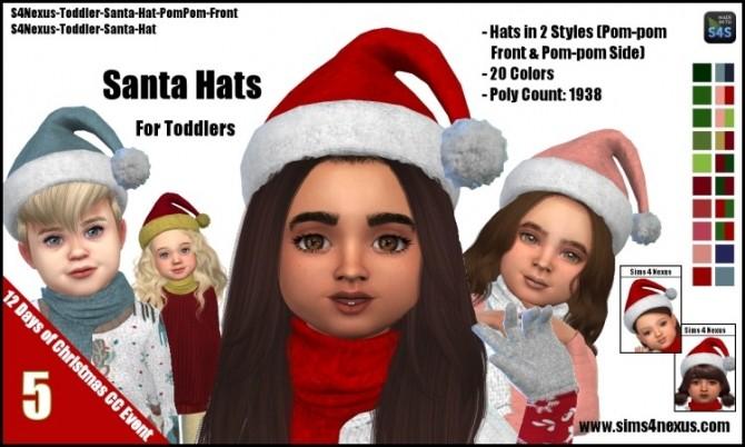 Sims 4 Santa Hats by SamanthaGump at Sims 4 Nexus