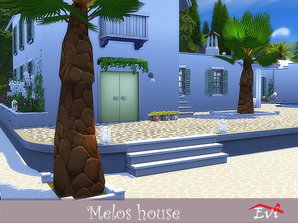 Melos House by evi at TSR image 1079 Sims 4 Updates