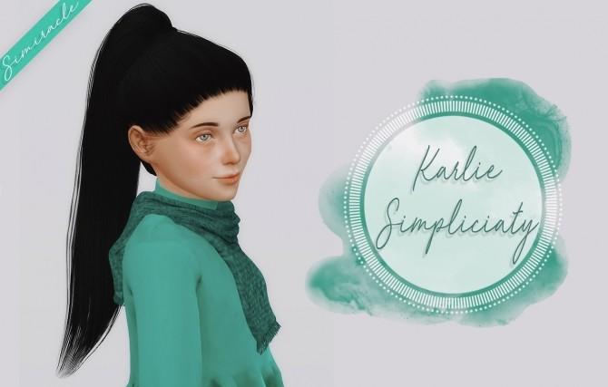 Sims 4 Simpliciaty Karlie Hair Kids Version at Simiracle