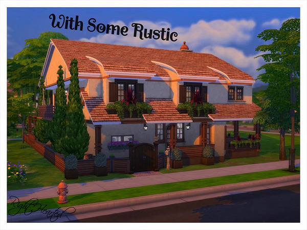 With Some Rustic 2 storey building by RightHearted at TSR image 11107 Sims 4 Updates