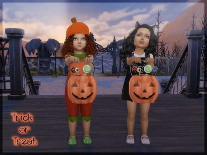 Trick or Treat! Pumpkin bucket and pose pack by Giulietta at Sims 4 Studio image 1122 670x503 Sims 4 Updates