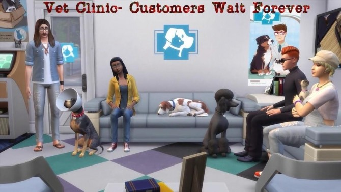 Vet Clinic Customers Wait Forever by Outburstt at Mod The Sims image 1138 670x377 Sims 4 Updates