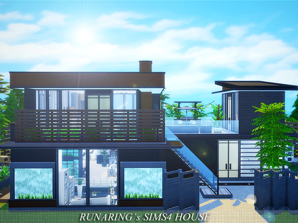 Modern house by Runaring at TSR » Sims 4 Updates