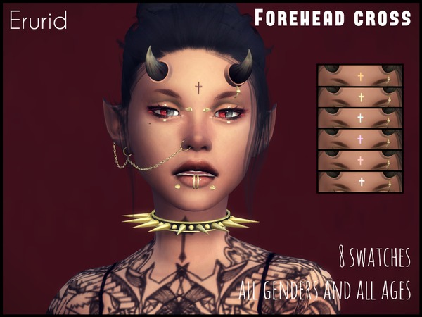 Forehead Cross by Erurid at TSR image 1140 Sims 4 Updates