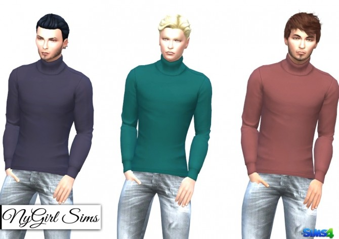 Sims 4 Untucked Turtleneck at NyGirl Sims