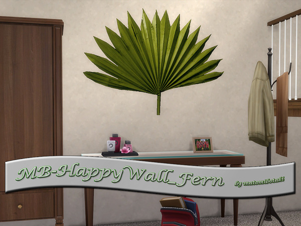 Sims 4 MB Happy Wall Fern by matomibotaki at TSR