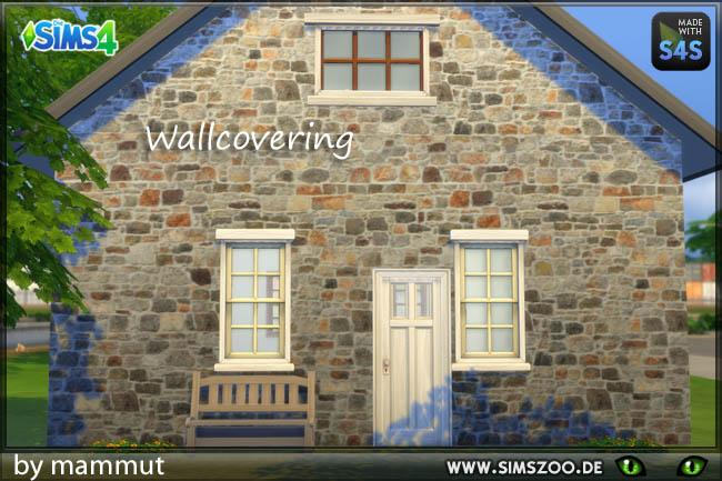 Sims 4 Old Bricks 3 wall by mammut at Blacky's Sims Zoo