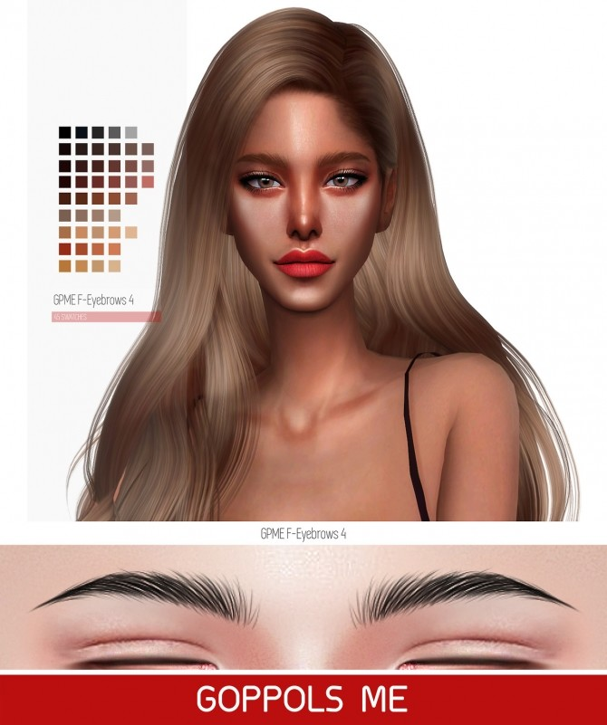 Sims 4 GPME F Eyebrows 4 at GOPPOLS Me