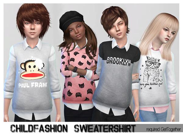 Sims 4 Fashion Set Sweater Shirt by ShojoAngel at TSR