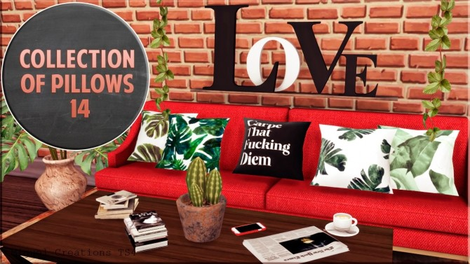 Sims 4 Collection of Pillows 14 at Victor Miguel