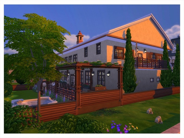 With Some Rustic 2 storey building by RightHearted at TSR image 12104 Sims 4 Updates