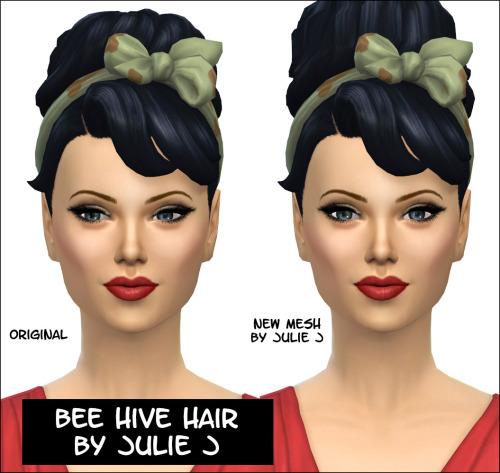 Bee Hive Hair at Julietoon – Julie J image 12115 Sims 4 Updates