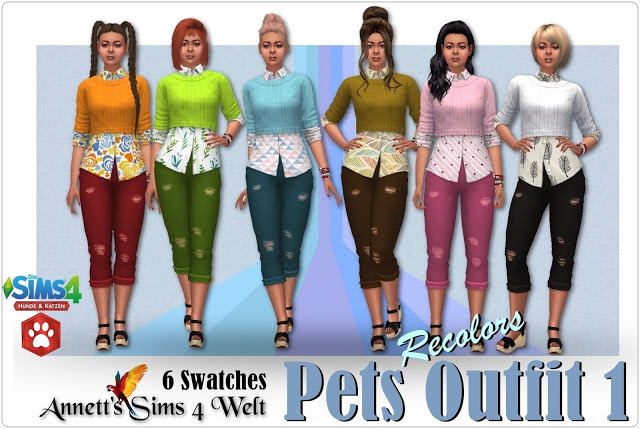 Pets Outfit 1 at Annett's Sims 4 Welt image 12210 Sims 4 Updates