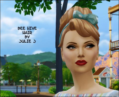 Bee Hive Hair at Julietoon – Julie J image 12310 Sims 4 Updates