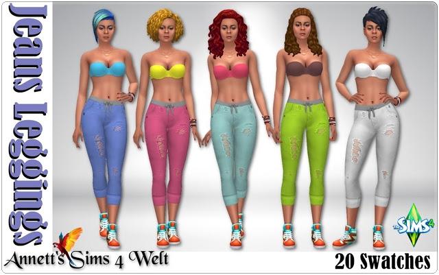 Sims 4 Jeggings at Annett's Sims 4 Welt