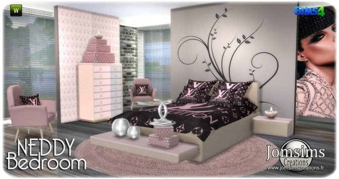 Neddy bedroom at Jomsims Creations image 1241 670x355 Sims 4 Updates