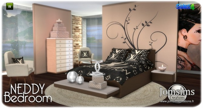 Neddy bedroom at Jomsims Creations image 1251 670x355 Sims 4 Updates