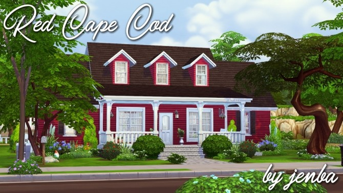 Red Cape Cod small family home at Jenba Sims image 1252 670x377 Sims 4 Updates