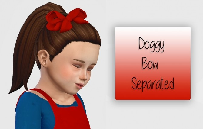 Sims 4 Doggy Bow Separated Toddler Version at Simiracle