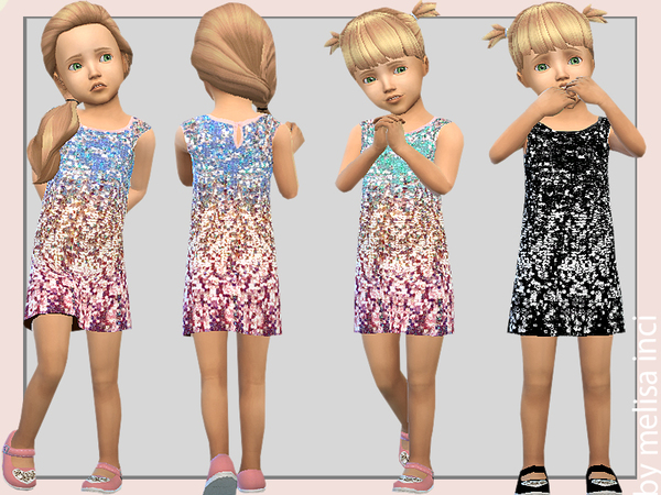 Sims 4 Sequin Dress by melisa inci at TSR